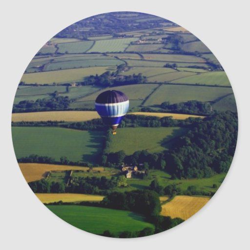 Hotair Ballon And View Classic Round Sticker