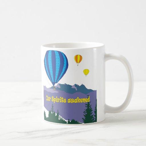 hotairballoons taza básica blanca