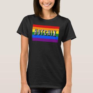 """HOTCHIX"" LGBT Rainbow Flag T-shirt (Black)"