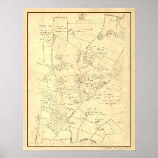 Hotchkiss Map Antietam Poster