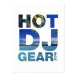 HOTDJGEAR Beach - DJ Djing Summer Music Post Card