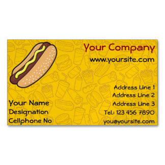 Hotdog Business Card Magnet