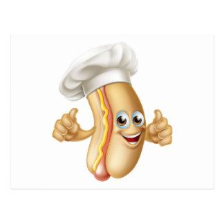 Hotdog Chef Postcard