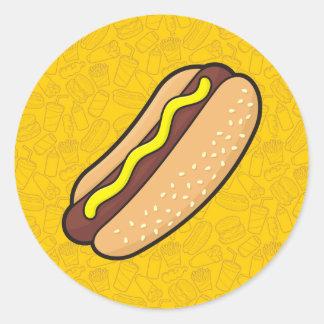 Hotdog Classic Round Sticker