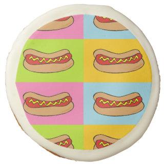 Hotdog custom cookie