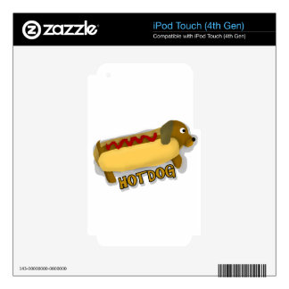 Hotdog Daschund Pun Skins For iPod Touch 4G