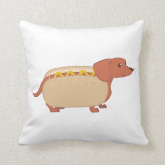 Hotdog Dog Throw Pillow