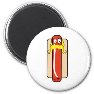 Hotdog Hulk Hogan 2 Inch Round Magnet