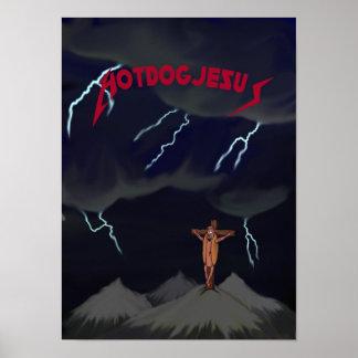 Hotdog Jesus Poster