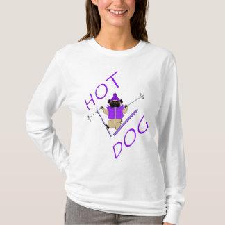 Hotdog Skiing Pug T-Shirt