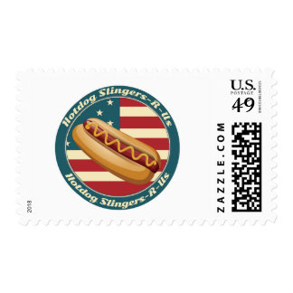 Hotdog Slingers-R-Us Postage Stamp