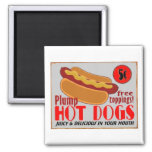 HotDogSign,magnet 2 Inch Square Magnet