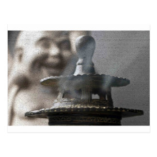 Hotei Buddha and Incense Postcard