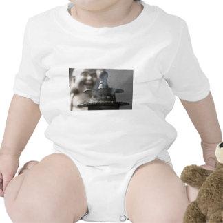 Hotei Buddha and Incense Baby Bodysuits