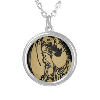 Hotei by Katsushika, Hokusai Ukiyo-e Silver Plated Necklace