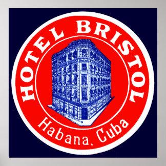 Hotel 1930 Bristol Cuba Póster