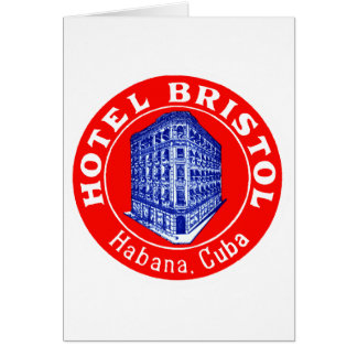 Hotel 1930 Bristol Cuba Tarjeta Pequeña