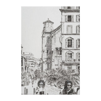 Hotel 5 and Notre Dame Cannes 2014 Canvas Print