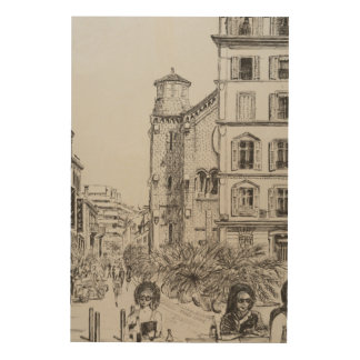 Hotel 5 and Notre Dame Cannes 2014 Wood Print
