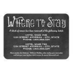 Hotel Accommodation Card | Black Chalkboard Charm Personalized Invite