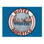 Hotel Adriatico en Venecia Postal