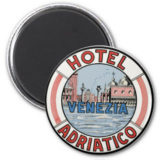 Hotel Adriatico in Venice 2 Inch Round Magnet