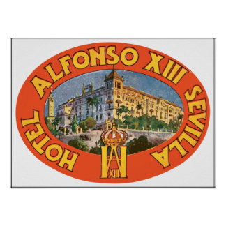 Hotel Alfonso Xiii Sevilla , Vintage Poster