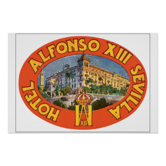 Hotel Alfonso XIII_Vintage Travel Poster