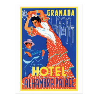 Hotel Alhambra Palace Granada Postcard