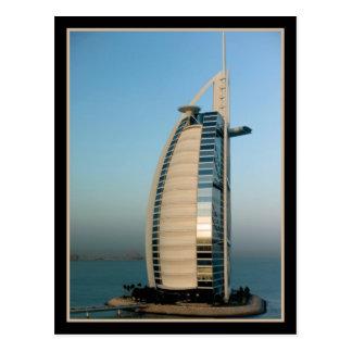 Hotel árabe del Al de Burj Dubai Tarjeta Postal