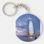 Hotel árabe del Al de Dubai Burj (por St.K) Llavero Redondo Tipo Pin
