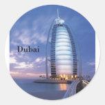 Hotel árabe del Al de Dubai Burj (por St.K) Etiqueta Redonda