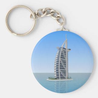 Hotel árabe Dubai del Al de Burj: modelo 3D: Llavero Personalizado