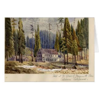 Hotel at the Grove of Mamoth Trees Card