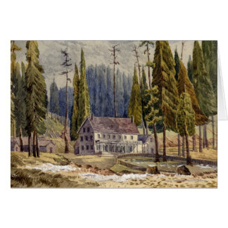 Hotel at the Grove of Mamoth Trees Greeting Card