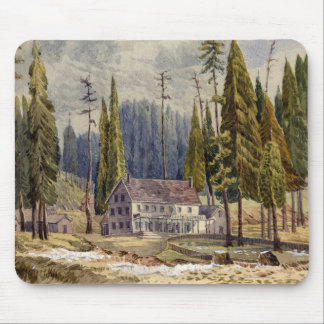 Hotel at the Grove of Mamoth Trees Mouse Pad