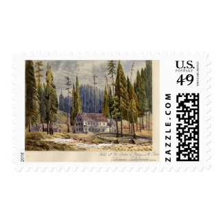 Hotel at the Grove of Mamoth Trees Postage