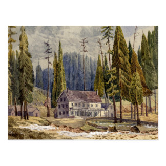 Hotel at the Grove of Mamoth Trees Postcard