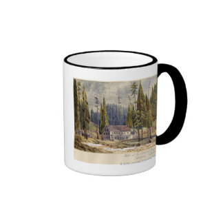 Hotel at the Grove of Mamoth Trees Ringer Coffee Mug