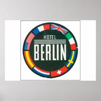 Hotel Berlin_Vintage Travel Poster Artwork