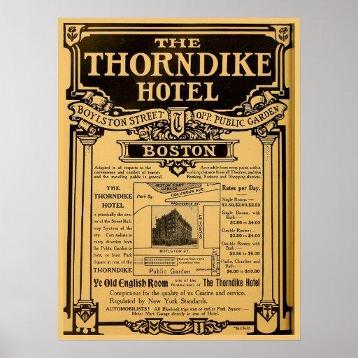Hotel Boston de Thorndike del anuncio de periódico Impresiones