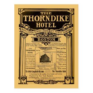 Hotel Boston de Thorndike del anuncio de periódico Postal