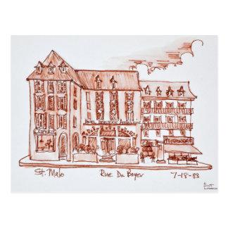Hotel Brasserie Armoricaine   St. Malo, Brittany Postcard