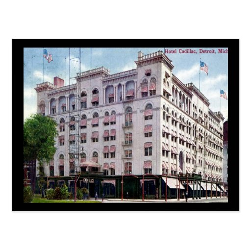 Hotel Cadillac, Detroit 1909 Vintage Postcard