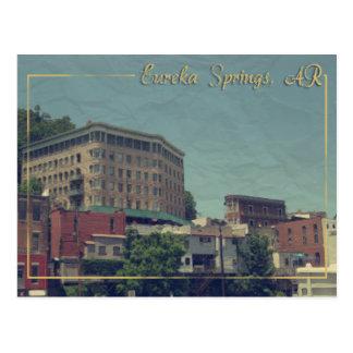 Hotel céntrico del lavabo de Eureka Springs, Postal
