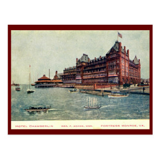 Hotel Chamberlain, Fortress Monroe, Virginia Vinta Postcard