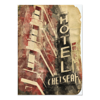 Hotel Chelsea NYC Vintage Watercolor Invitations