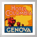 Hotel Colombia Genova Poster
