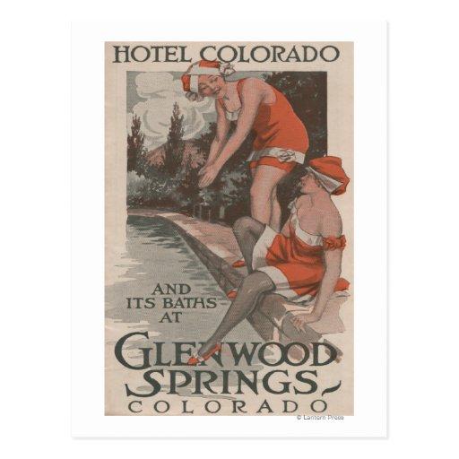 Hotel Colorado & Baths Poster Postcards