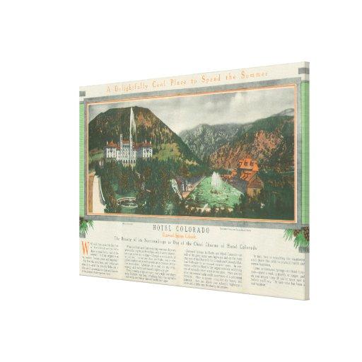 Hotel Colorado Brochure Gallery Wrap Canvas